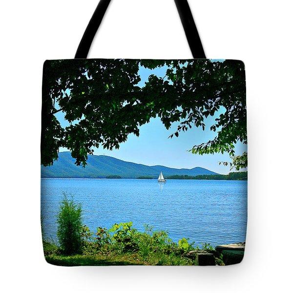 Smith Mountain Lake Sailor Tote Bag by The American Shutterbug Society