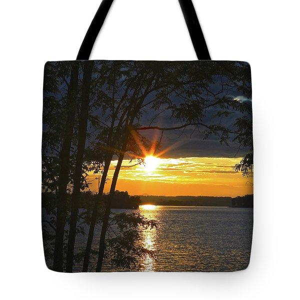 Smith Mountain Lake Summer Sunet Tote Bag