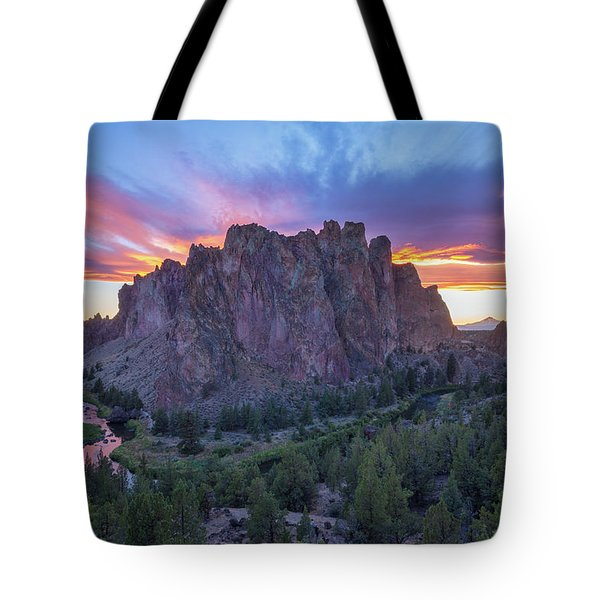 Tote Bag featuring the photograph Smith On Fire by Patricia Davidson