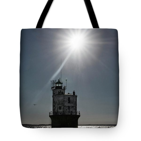 Smith Point Lighthouse Tote Bag