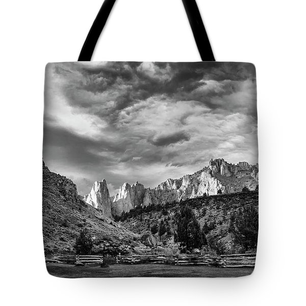 Smith Rock Bw Tote Bag