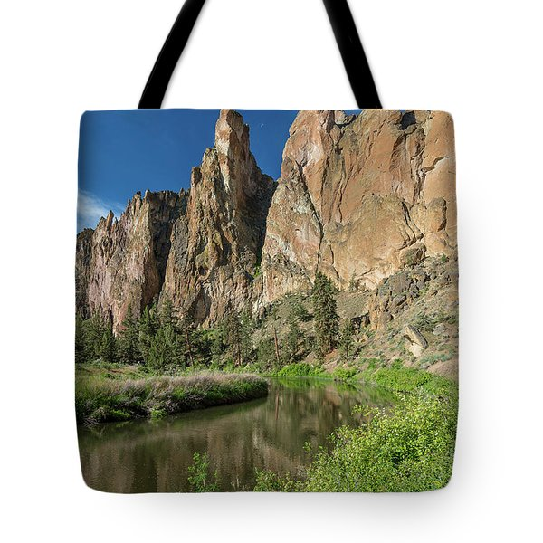 Tote Bag featuring the photograph Smith Rock Spires by Greg Nyquist
