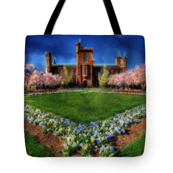 Spring Blooms In The Smithsonian Castle Garden Tote Bag