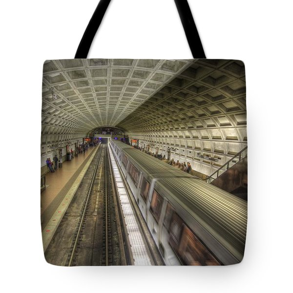 Smithsonian Metro Station Tote Bag by Shelley Neff