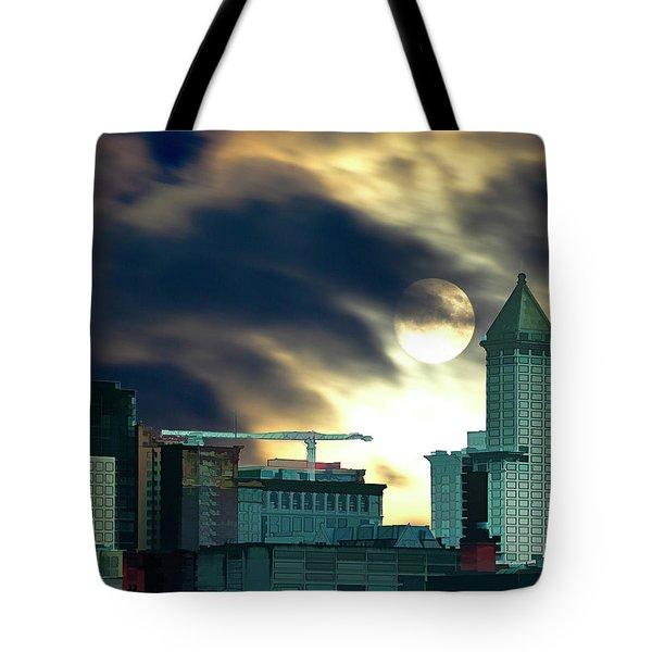 Smithtower Moon Tote Bag by Dale Stillman