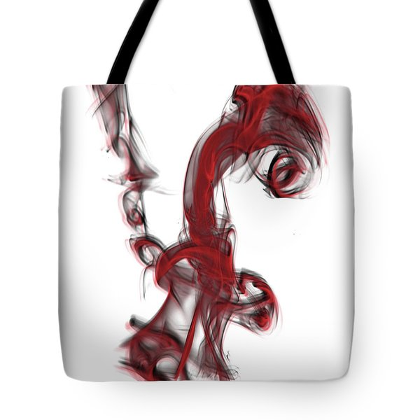 Smoke 01 Red Tote Bag