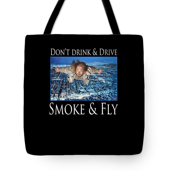 Tote Bag featuring the painting Smoke And Fly by Tom Roderick