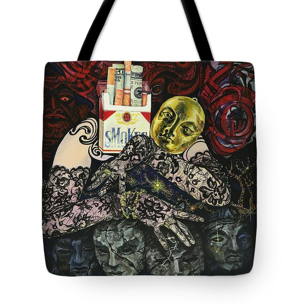 Smoke And Lace Tote Bag