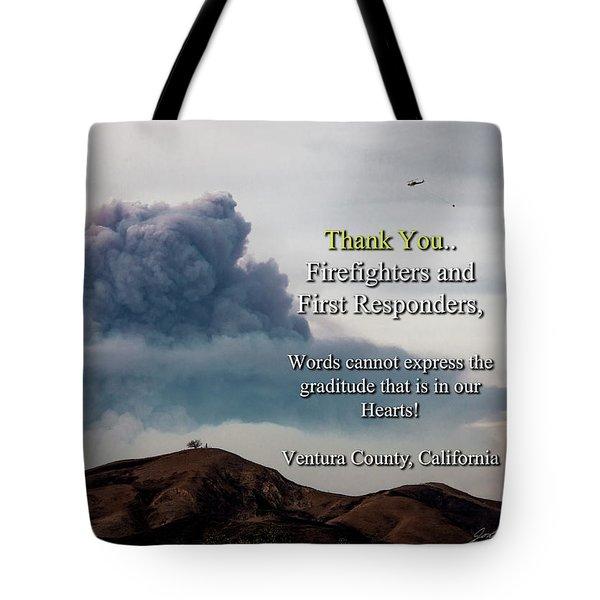 Smoke Cloud Over Two Trees Tote Bag
