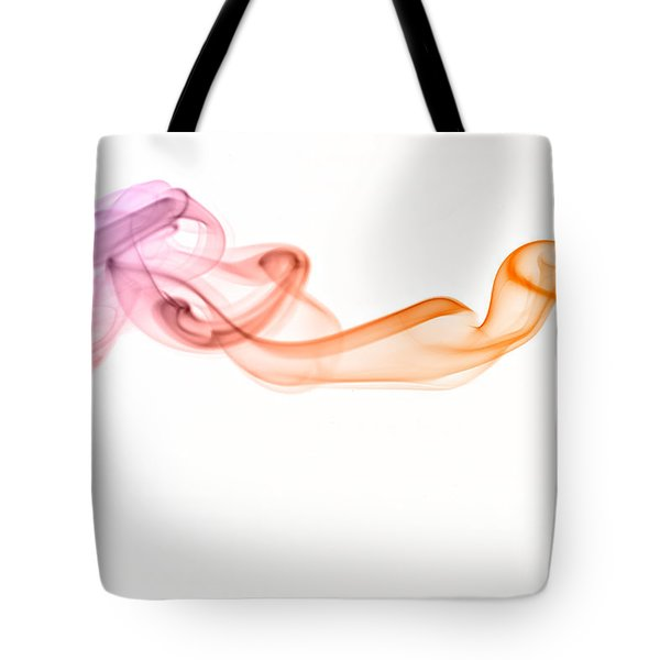 Tote Bag featuring the photograph smoke IV by Joerg Lingnau