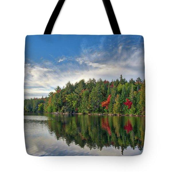 Smoke Lake Tote Bag by Irwin Seidman