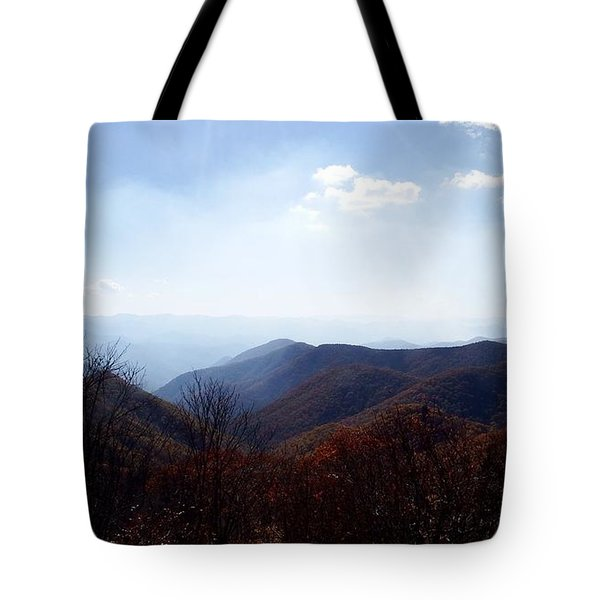 Smoke Of The Smokies Tote Bag by Cathy Harper