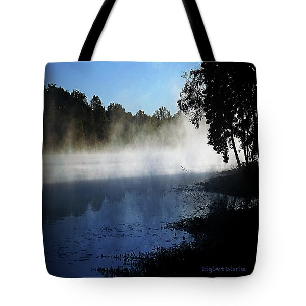 Smoke On The Water Tote Bag by DigiArt Diaries by Vicky B Fuller