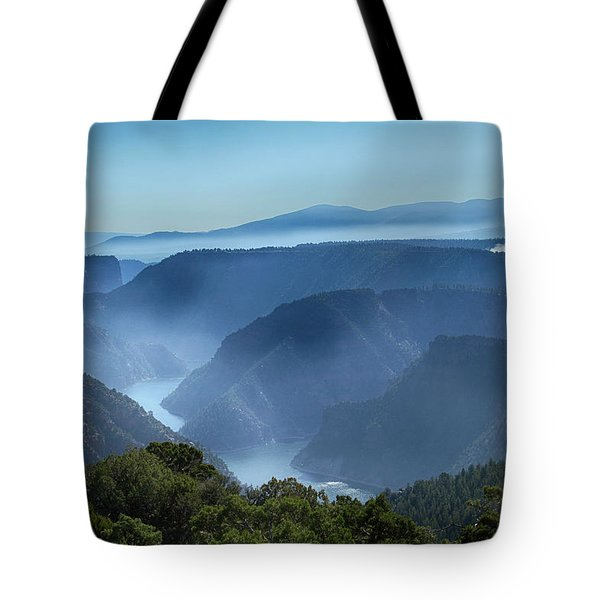 Smoke Over Flaming Gorge Tote Bag