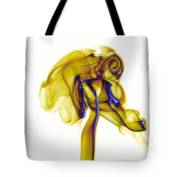 Tote Bag featuring the photograph smoke VIII c by Joerg Lingnau
