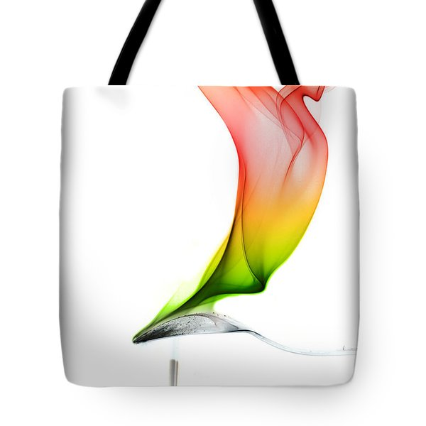 Tote Bag featuring the photograph smoke X by Joerg Lingnau