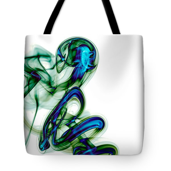 Tote Bag featuring the photograph smoke XL by Joerg Lingnau