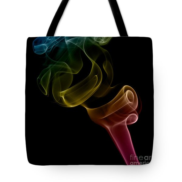 Tote Bag featuring the photograph smoke XVI by Joerg Lingnau