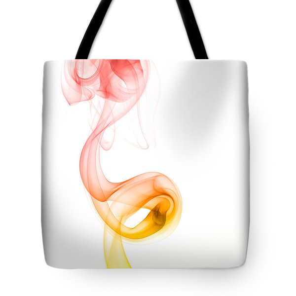Tote Bag featuring the photograph smoke XX by Joerg Lingnau