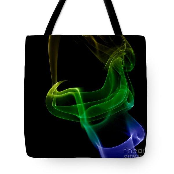 smoke XXIV Tote Bag by Joerg Lingnau