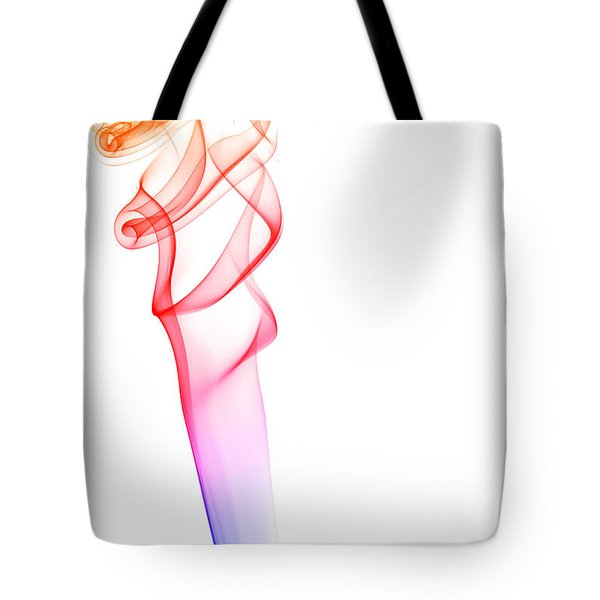 Tote Bag featuring the photograph smoke XXXV by Joerg Lingnau