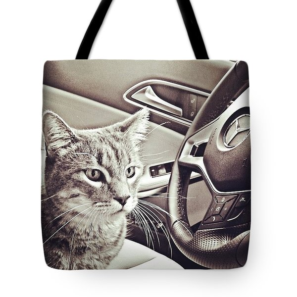 Smokey Loves The Mercedes Cla Too! Tote Bag