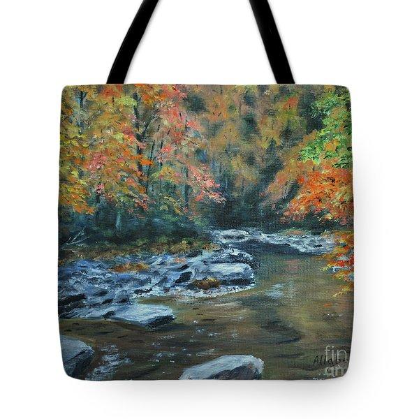 Smokey Mountain Autumn Tote Bag