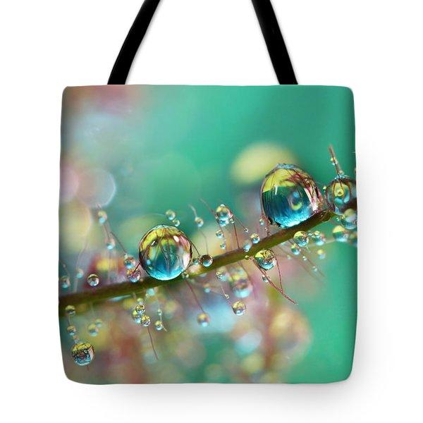 Smokey Rainbow Drops Tote Bag