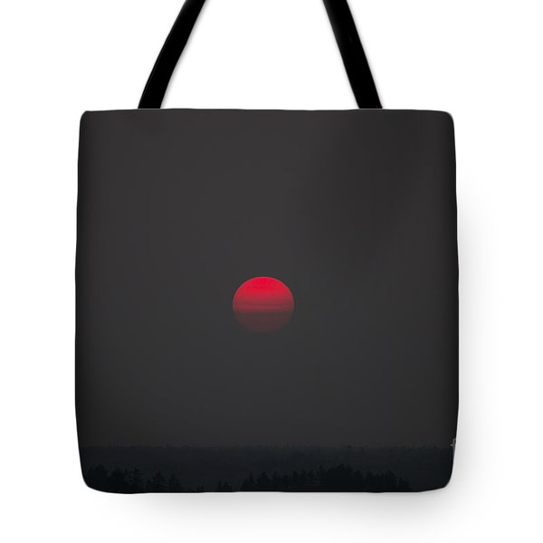 Smokey Red Sun Tote Bag