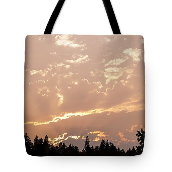 Smokey Skies Sunset Tote Bag by Melanie Lankford Photography