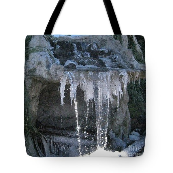 Smokey Stoves Frozen Falls Tote Bag