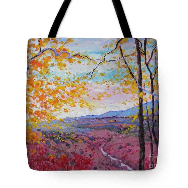 Smokey View Morning Tote Bag