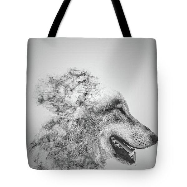 Smokey Wolf Tote Bag