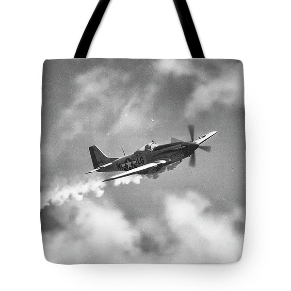 Tote Bag featuring the photograph Smokin 51 Bw by Tommy Patterson