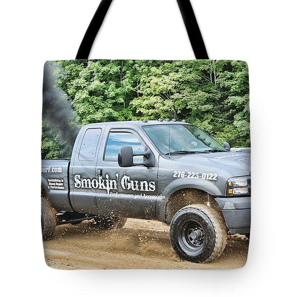 Smokin' Guns Tote Bag by Denise Romano