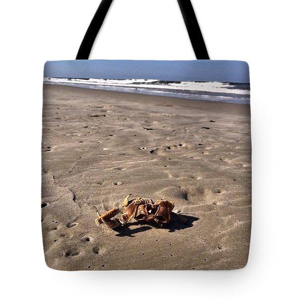 Tote Bag featuring the photograph Smoking Kills Crab by Lisa Piper
