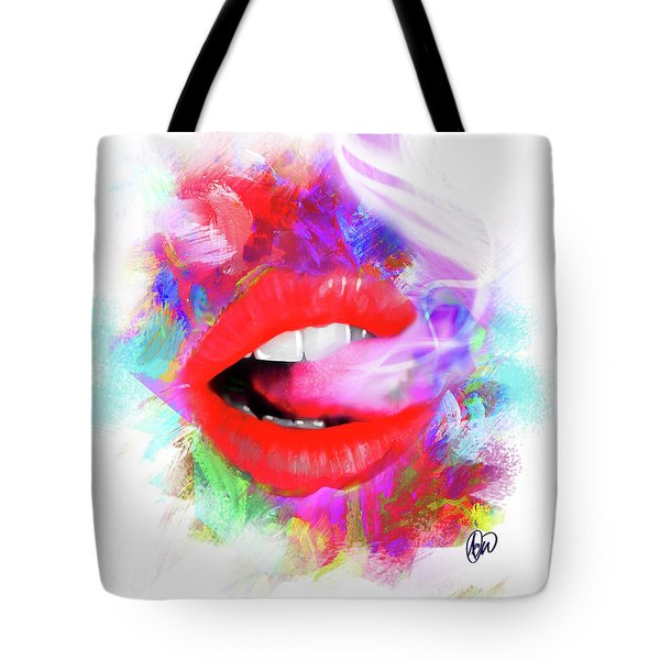 Smoking Lips Tote Bag