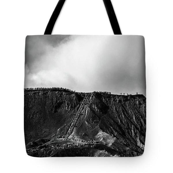 Tote Bag featuring the photograph Smoking Volcano by Pradeep Raja Prints