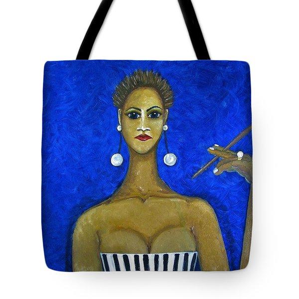 Smoking Woman 2 Tote Bag