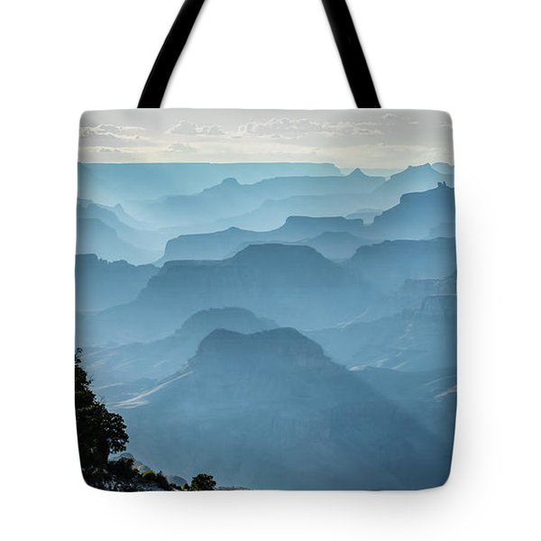 Tote Bag featuring the photograph Smoky Canyons by Steven Sparks