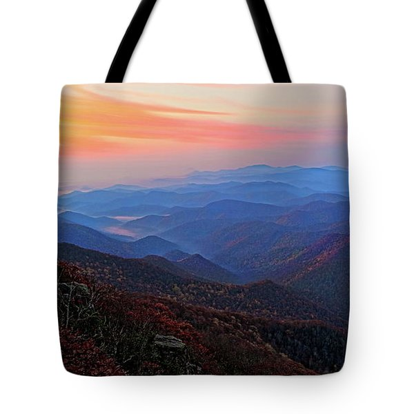 Dawn From Standing Indian Mountain Tote Bag