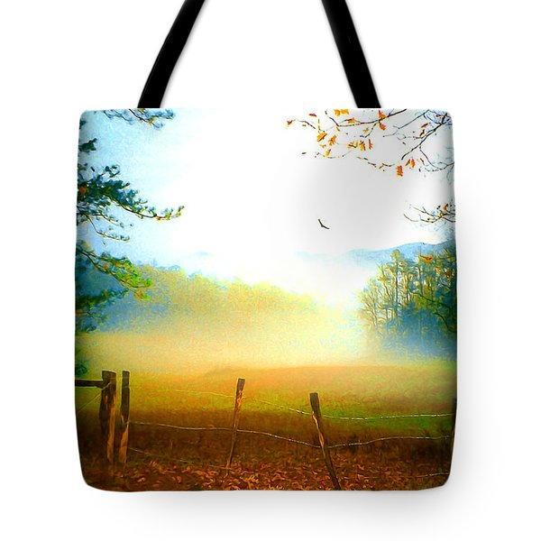 Smoky Mountain Fog Tote Bag