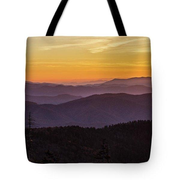 Smoky Mountain Morning Tote Bag