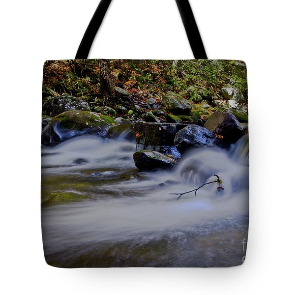 Tote Bag featuring the photograph Smoky Mountain Stream by Douglas Stucky