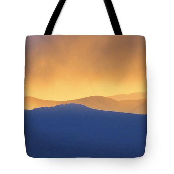Smoky Mountain Sunset Tote Bag