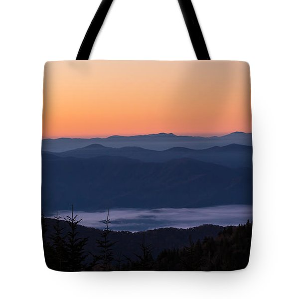 Smoky Mouontain Haze Tote Bag