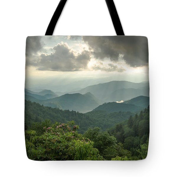 Smoky Sunbeams Tote Bag