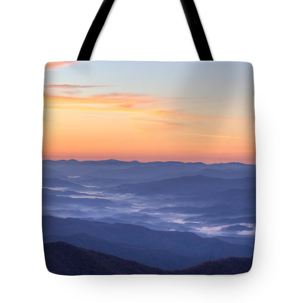 Smoky Sunrise Tote Bag