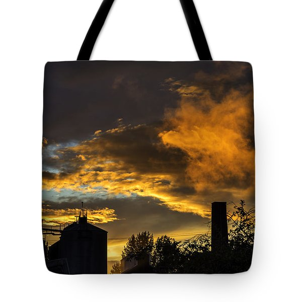 Tote Bag featuring the photograph Smoky Sunset by Jeremy Lavender Photography