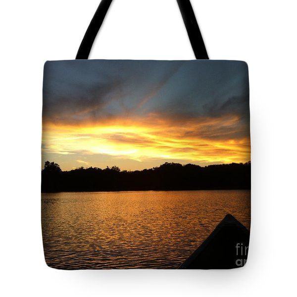 Smoldery Sunset Tote Bag by Jason Nicholas